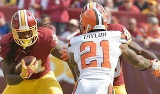Washington Redskins running back Matt Jones (31) rushed for 117 yards and a touchdown in a 31-20 win over the Cleveland Browns at FedEx Field in Landover, Md., on Oct. 2. PHOTO BY JOHN DEFREITAS