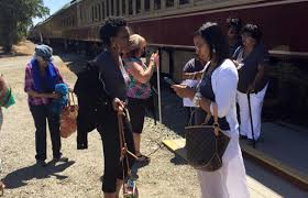One of a mostly-black women's book club who were kicked off a Napa Valley Wine Train in August posted a photo on Facebook of the group after they were removed from the train for being too noisy.