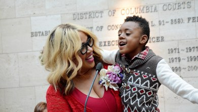 Comedian Kym Whitley serves as guest speaker at the DC Superior Court and the DC Child and Family Services Agency's 30th annual DC Adoption Day ceremony at the Moultrie Courthouse in Northwest on Nov. 19. /Photo by Roy Lewis