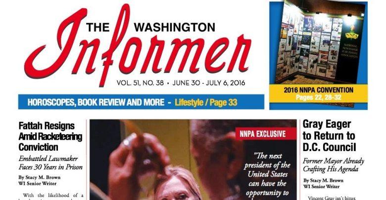 Washington Informer, June 30, 2016