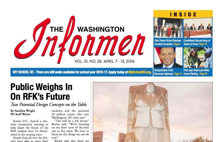 Washington Informer, April 7, 2016