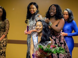 LaToya Mayo of Southeast is crowned Miss Black DC USA on Saturday, Dec. 10 during the pageant at Greater Mt. Calvary Holy Church Family Life Center in Northeast.