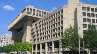 The J. Edgar Hoover Building, the headquarters of the FBI in northwest D.C.