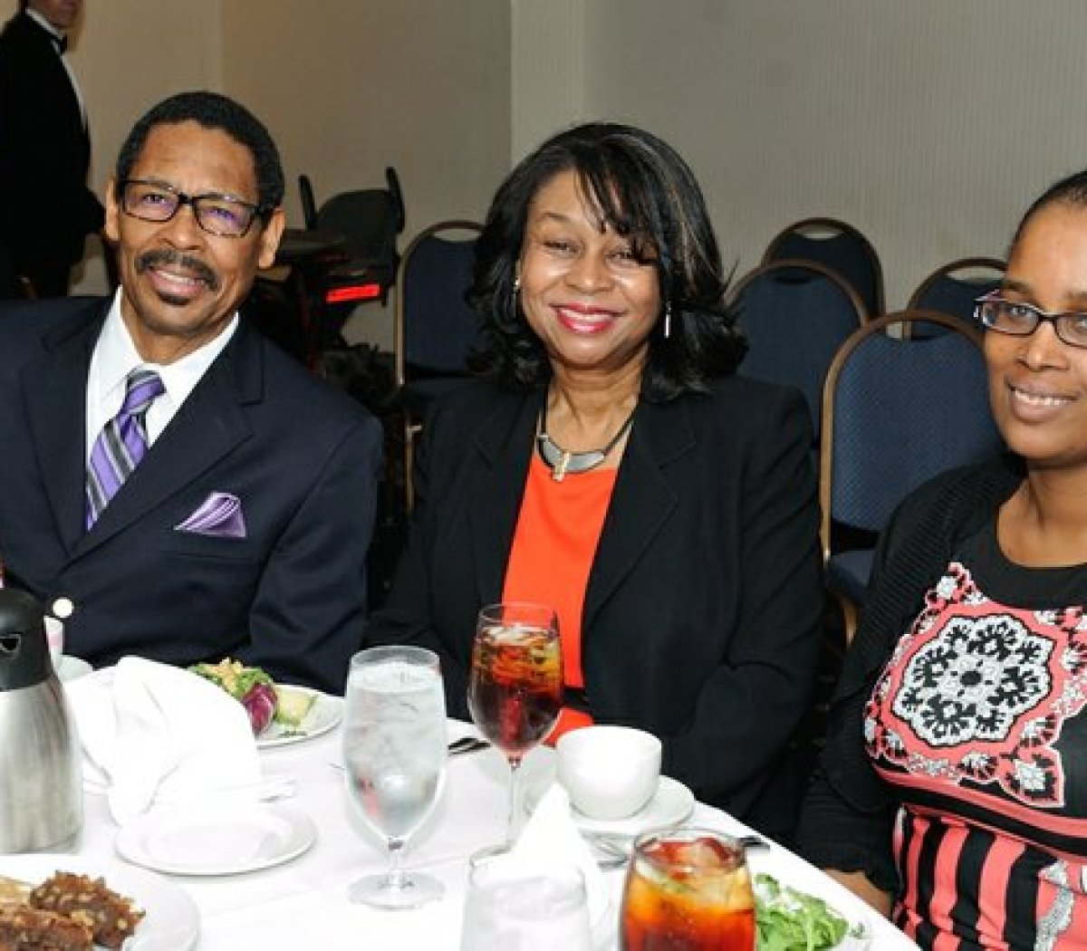Clergy from Greater Mt. Calvary Church attend the Sixth Annual Stateswomen for Justice Luncheon at the National Press Club, Thursday, March 31, 2016 in Northwest. /Photo by Patricia Little @5feet2