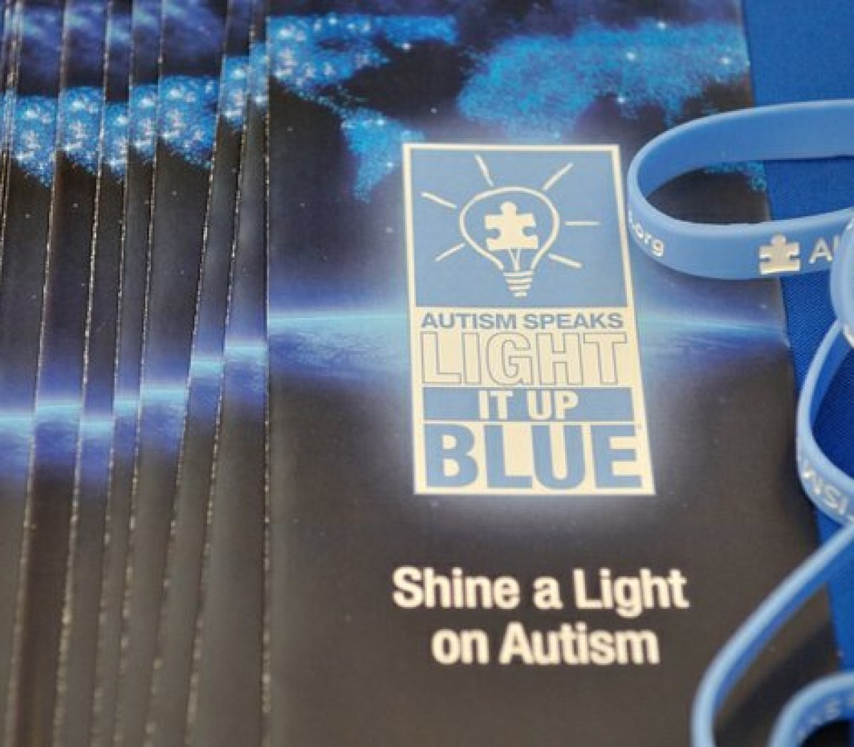 Literature available to attendees at the Autism Speaks Light It Up Blue event at the THEARC, Saturday, April 2, 2016 in Southeast. /Photo by Patricia Little @5feet2