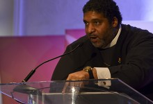 Rev. William Barber II, president of the North Carolina state chapter of the NAACP, delivers a keynote speech during the 2017 NNPA Mid-Winter Conference in Fort Lauderdale, Fla., on Jan. 25. (Freddie Allen/AMG/NNPA)