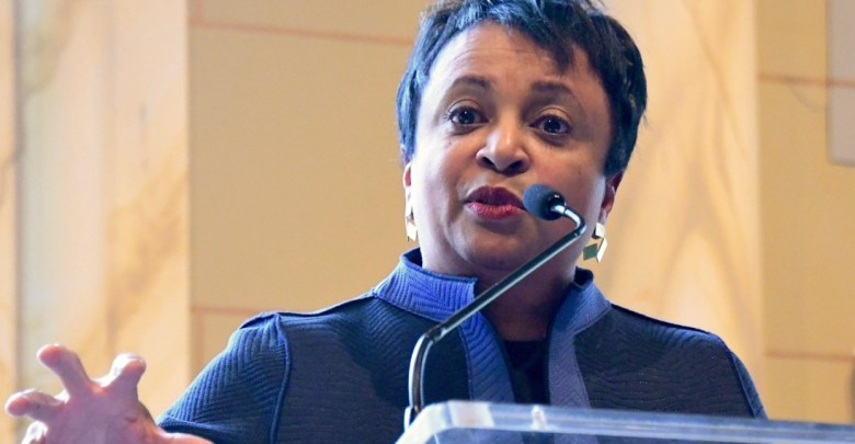Librarian of Congress Carla D. Hayden speaks to attendees at the 36th annual Black History Month celebration of Maryland's 5th Congressional District at Camelot by Martin's in Upper Marlboro on Feb. 11.