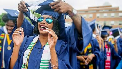 Howard University graduates celebrate. (Courtesy photo)