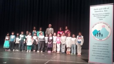 Boys and girls from across Montgomery County take the stage for the annual Jack and Jill of America Spelling Bee in Rockville on March 26. (Lauren Poteat/The Washington Informer)