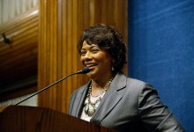 Dr. Bernice King delivers the keynote address at the Trice Edney News Wire 7th Annual Stateswomen for Justice Luncheon and Issues Forum on Friday, March 31 at the National Press Club in Northwest. (WI photo)