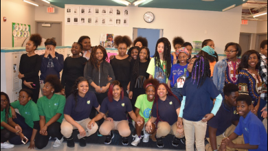 In their ongoing honor of black history, students at Washington Global PCS participate in performances and events that included field trips to the Brazilian Embassy and the National Museum of African American History and Culture. (Courtesy of Washington Global PCS)