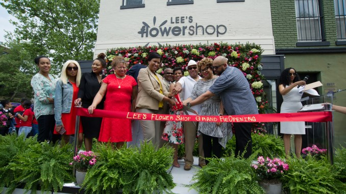 Lee's Flower & Card Shop Grand Reopening April 27, 2017. / Photo by Lateef Mangum