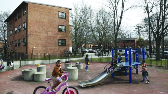 Children play outside in the Kenilworth-Parkside neighborhood in Ward 7. (Courtesy photo)