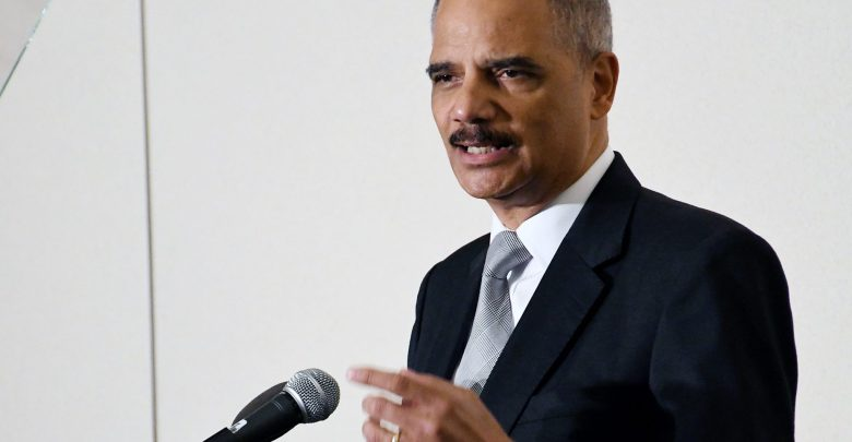 Former US Attorney General Eric H. Holder Jr. gives the keynote address July 24 at the Clarence M. Mitchell Luncheon where he spoke on the need for NAACP members to fight for voting rights. His remarks were made during the 108th annual NAACP convention in Baltimore. (Roy Lewis/Washington Informer)