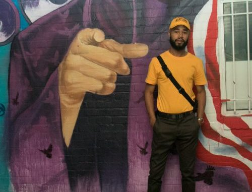 Rap artist, Chaz French during an interview with the Washington Informer at Ben's Chili Bowl in Northwest before meeting some of his supporters to celebrate the release of his new project, True Colors. /Photo by Shevry Lassiter