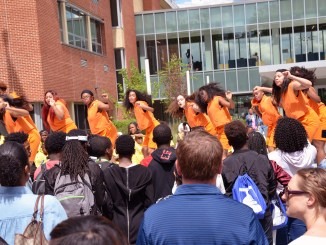 CityDance Dream performs at the DCPS Back to School Block Party at Ron Brown College Preparatory in northeast D.C. on Sept. 9. (Courtesy of Felicia Taylor)