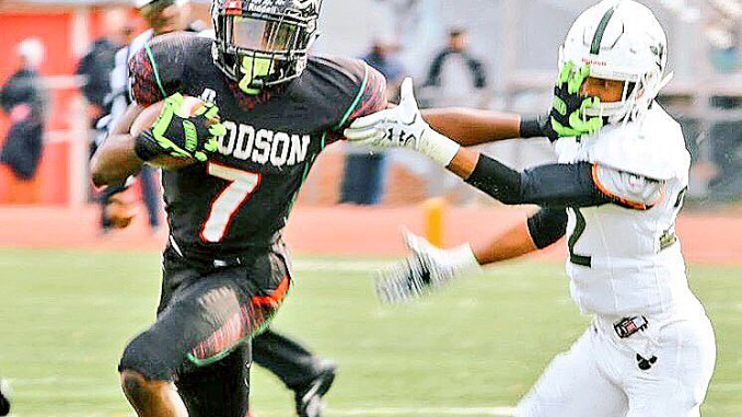 Mychale Salahuddin, the No. 3 all-purpose running back in the nation, will lead Woodson against Friendship in the annual Ward 7 Clash of Titans battle. (Courtesy of Top Prospect Sports via Twitter)