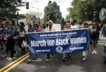 Supporters of the Blueprint for Black Women met at Seward Square and Black Women for Racial Justice met at Lincoln Park in Southeast where they converged in a March for Black Women, walking to the Justice Department and ending on the National Mall on Sept. 30. The march was held 20 years after the Million Women March to bring attention to the injustices Black women face. (Shevry Lassiter/The Washington Informer)