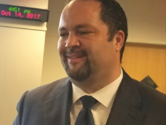 Former NAACP President and Maryland gubernatorial hopeful Ben Jealous participates in a candidate's forum at Montgomery College in Germantown on Oct. 14. (William J. Ford/The Washington Informer)
