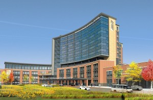 A rendering of the University of Maryland Capital Regional Medical Center, slated to open in Largo in 2021