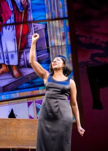 """Harriett D. Foy (Nina Simone) in""""Nina Simone: Four Women,"""" now running at Arena Stage at the Mead Center for American Theater. (C. Stanley Photography)"""