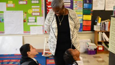 """Prince George's County Board of Education Vice Chair Carolyn Boston visits Capitol Heights Elementary School as part of the schools system's """"Principal for a Day"""" event on Nov. 14. (Courtesy of PGCPS)"""