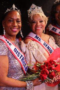 Ms. Senior America Carolyn Slade Harden, pictured with Ms. Senior D.C. Frances Curtis Johnson after the crowning