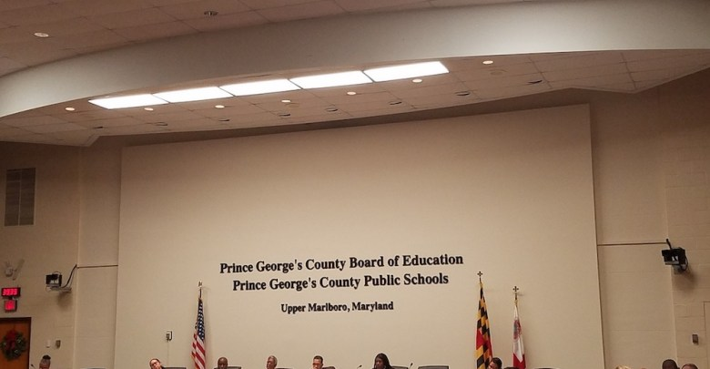 Prince George's County Public School Board holds a special meeting in Upper Marlboro on Dec. 19 to review recommendations from a state audit on grade changes for high school seniors. (William J. Ford/The Washington Informer)