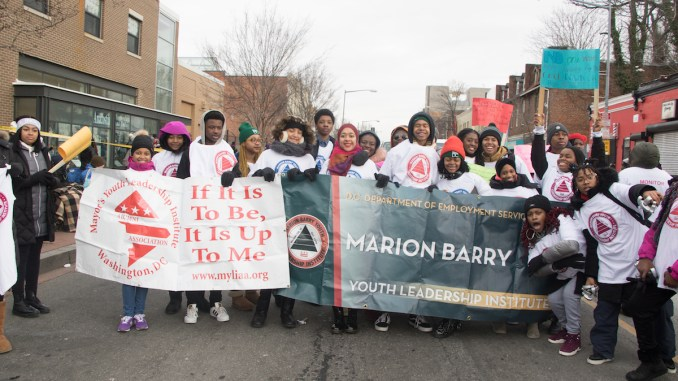 More than 150 organizations, bands and city officials participate in the annual Martin Luther King Jr. Peace Walk and Parade in southeast D.C. on Jan. 15. (Shevry Lassiter/The Washington Informer)