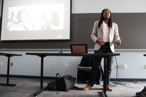 "Omékongo Dibinga teaches ""Jay-Z and the Practice of Historical Biography"" at American University. (Bridgette White/The Washington Informer)"