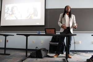 "Omékongo Dibinga teaches ""Jay-Z and the Practice of Historical Biography"" at American University. (Bridgette White/The Washington Informer)"