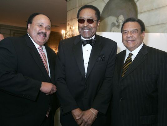 From left: Martin Luther King III, Clarence Jones and Andrew Young (Courtesy of Courieronline.com)