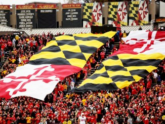 The flags representing the University of Maryland (Daniel Kucin Jr./The Washington Informer)
