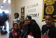 From left: Ketcham Elementary School students Clifton Covington, Antoinette Poindexter, Leah Shuler, Marvell Chambers, Tye'zaeha Garvin-Bailey and Cameron Gardner (Dorothy Rowley/The Washington Informer)