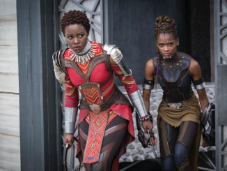 """Black Panther,"" which stars Lupita Nyong'o (left) and Letitia Wright, raked in nearly $200 million over its first weekend. (Marvel)"