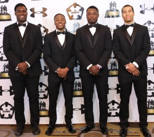 From left: Nicholas Petit-Frere of Tampa, Fla.; Mataeo Durant of Plum Branch, S.C.; Quincy Patterson II of Chicago; and Shayne Simon of West Orange, N.J.