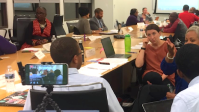 State Board of Education Task Force members hold a work session regarding D.C.'s graduation rates. (Courtesy of D.C. State Board of Education)