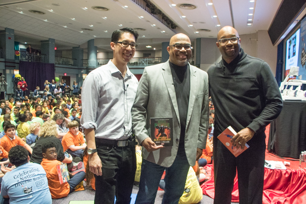 "Authors Gene Luen Yang, Jesse Holland and Kwame Alexander served as the featured guests at the ""Read Across America"" event hosted at the headquarters of the National Education Association in Northwest on Thursday, March 1. (Shevry Lassiter/The Washington Informer)"
