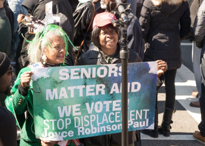 People from all eight wards showed up at the Marion Barry Jr. statue unveiling held on Pennsylvania Avenue in front of the John Wilson District Building in Northwest on Saturday, March 3. (Shevry Lassiter/The Washington Informer)