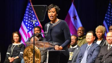 D.C. Mayor Muriel Bowser gives the 2018 State of the District address on March 15. (Brigette White/The Washington Informer)