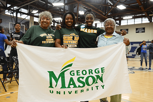 "On ""College Signing Day,"" PGCPS staff members were encouraged to wear attire or paraphernalia representing their alma mater or favorite college team. (Courtesy of PGCPS)"