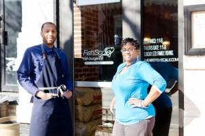 Chef Henry and Kristal Williams are the co-owners of FishScale, a new, Black- and family-owned fine casual eatery in the District's Shaw community where fresh fish and other healthy options dominate the menu. (Courtesy of India Kea Diakea Photography)