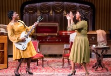"Roz White as Sister Rosetta Tharpe and Ayana Reed as Marie Knight in the Mosaic Theater Company's production of ""Marie and Rosetta"" (Courtesy of Mosaic Theater Company)"