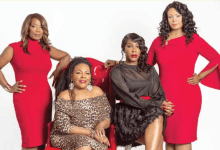 """Jewel Diamond Taylor (second from left) is joined by the other hosts of """"The Blend, an exciting new web-based talk show debuting Oct. 3 that will also feature (from left) Dr. Gloria Chance, Dr. Peace Amadi and Dr. Tabatha Carr. (Courtesy photo)"""