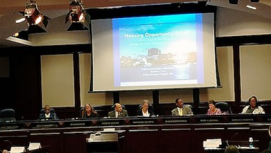 Prince George's County Council holds a presentation on Oct. 9 for residents to review a proposed document to increase housing options in the county. (William J. Ford/The Washington Informer)