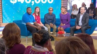 "From left: Students Matthew Blue, Autumn Loss and Edson Leyva were surprised Oct. 18 with $40,000 College Board Opportunity Scholarships on ""Good Morning America."" (Courtesy of GMA/Collegeboard.org)"