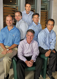 Capital for Children's founders have raised over $250,000 for local programs to assist underprivileged youth. They include Ken Doyle (seated) and (back row, left to right): Peter Manos, Kevin Lavin, Morten Kucey, Dean D'Angelo, and James Hanna.