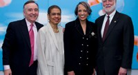 Timothy Bork, Vice Co-Chairs, African Art Advisory Board; The Honorable Eleanor Holmes Norton, Dr. Johnnetta B. Cole, Director, National Museum of African Art, Smithsonian Institution; Dr. Wayne Clough, Secretary, Smithsonian Institution
