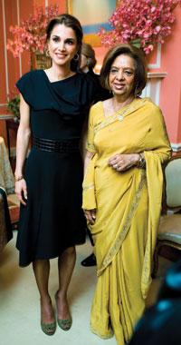 Queen Rania Al Abdullah and Nafis Sadik