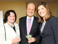 Elizabeth and George Stevens with Norah O'Donnell